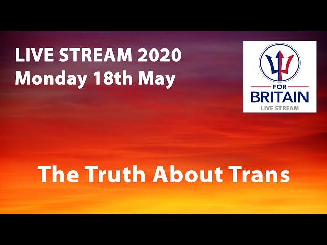 18th May 2020: For Britain Livestream from Anne Marie Waters