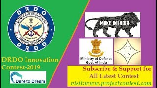 DRDO Innovation contest (2019) I Dare to Dream I Ministry of Defense, India