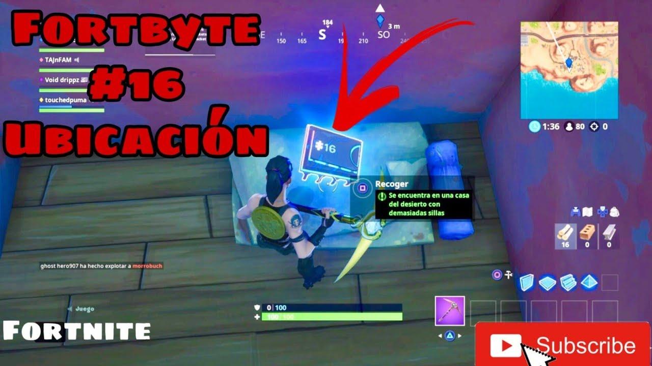 FORTNITE FORTBYTE #16 UBICACIÓN (Se encuentra en una casa ...