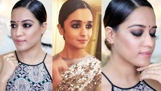 Alia Bhatt Inspired Makeup Look | Smokey Eyes And Nude Lips