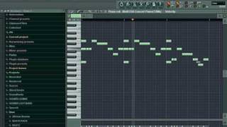 FL Studio 8 Tutorial Me making a Hip Hop Beat for Beginner (Use Pattern)