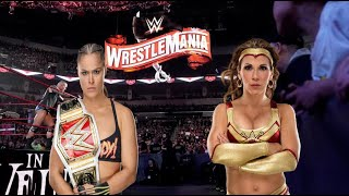 RONDA ROUSEY VS MICKIE JAMES - WWE ELIMINATION CHAMBER