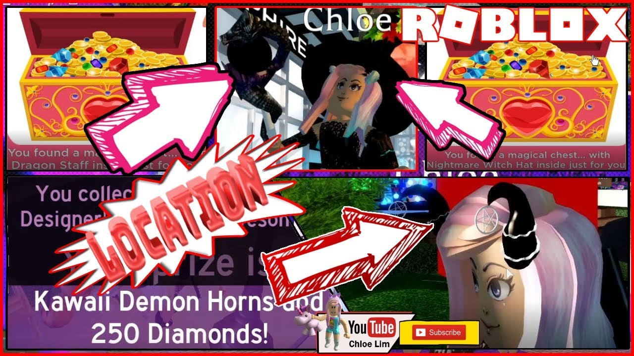 Roblox Gameplay Royale High Halloween Event 2 Secret Chests