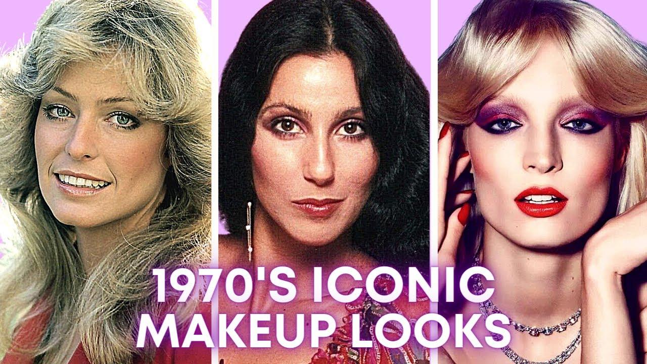 1970's Iconic Makeup Tutorial💄   Farrah Fawcett, Cher, Disco Makeup