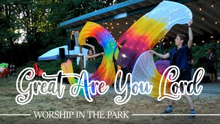 Worship Moment Dance with Flags at Mill Lake Park  Great Are You Lord ft CALLED TO FLAG team