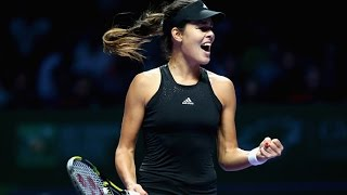 Ana Ivanovic vs Simona Halep | 2014 WTA Finals Highlights