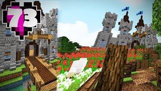 CASTLE DRAWBRIDGE & LANDSCAPING! - Ep. 73 -  A Minecraft Survival Let's Play [1.9 Beta]