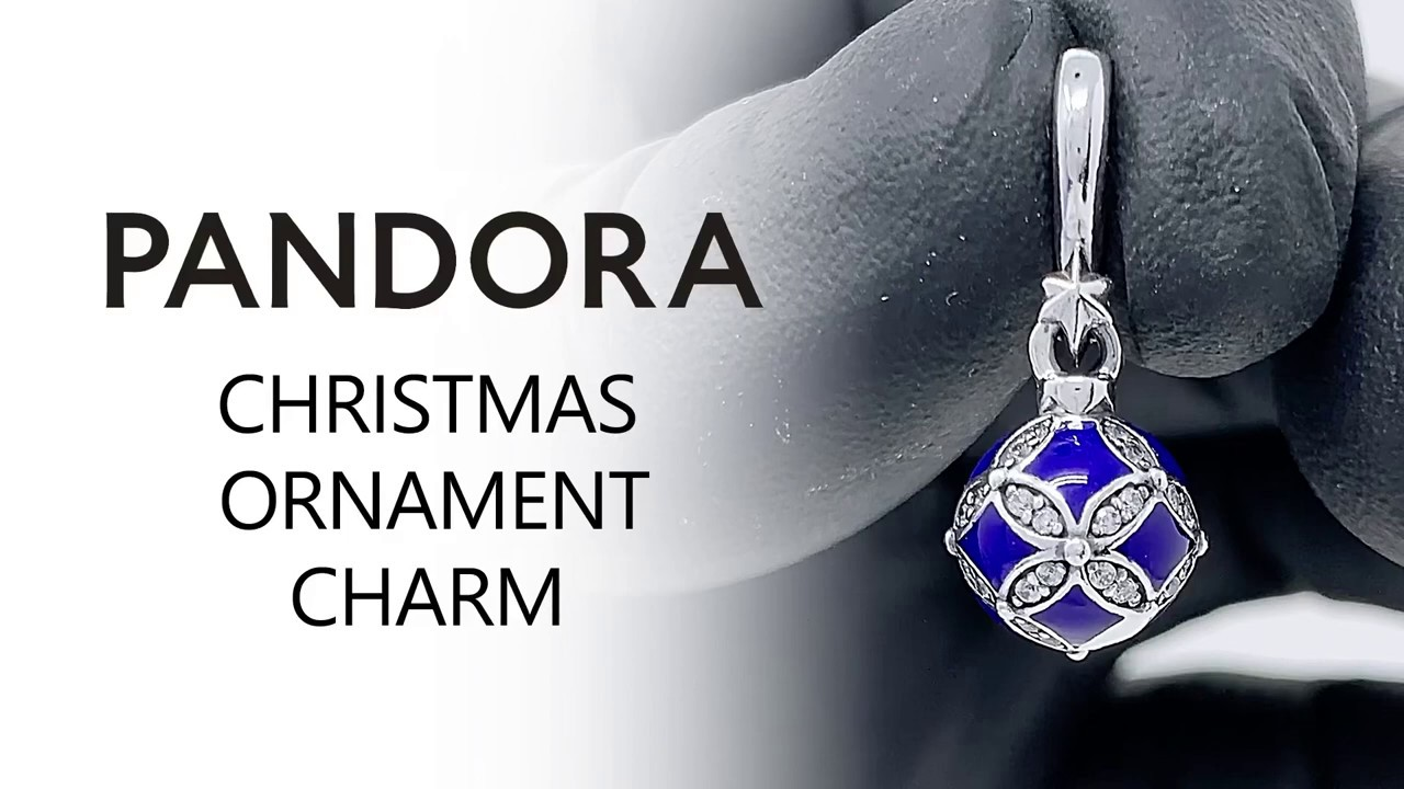 2020 Pandora Christmas Ornament Pandora Blue Christmas Ornament Dangle Charm 2019   798512C01