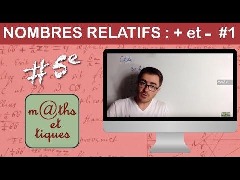 Effectuer des additions et soustractions de nombres relatifs (1) - Cinquième
