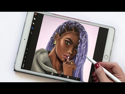 DRAWING IN PROCREATE- HOW I DO IT & SPEED DRAWING