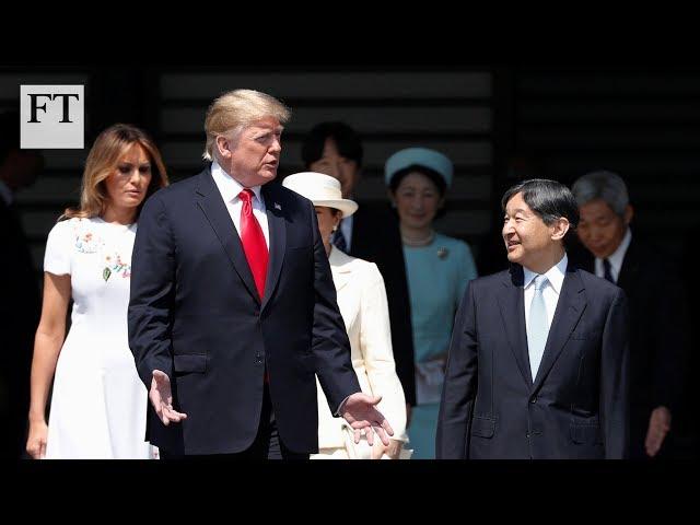Donald Trump meets Japan's Emperor Naruhito