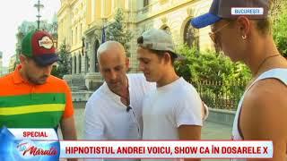 Hipnotistul Andrei Voicu, show ca in Dosarele X