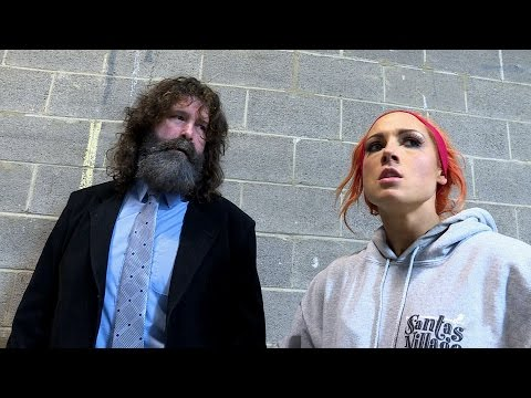 Becky Lynch gets some unusual training from Mick Foley