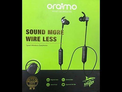 4c3b14ebb84 Oraimo Bluetooth Earphone - shark OEB E57D - YouTube