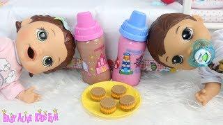 vuclip Baby Alive Minha Boneca Lili  Meu Primeiro Filho Otavinho Tomam Mingau Com Leite de Boneca Baby Doll