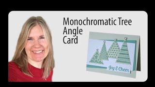 Tree Angle Christmas Card