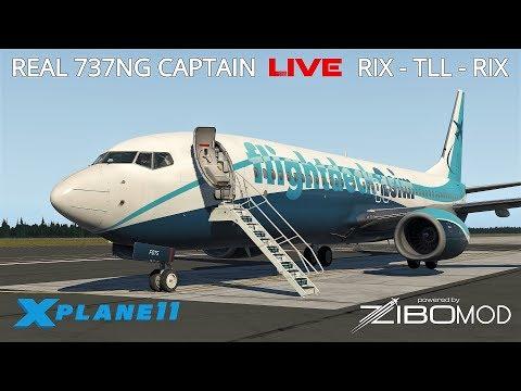 Real Airline Captain LIVE   ZIBO MOD 737   Riga – Tallinn – Riga   TWO SECTOR DAY