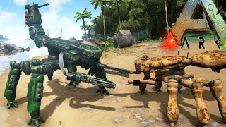 Ark Survival Evolved - SCORPION MECH, MACHINE GUNS + RAIL GUN ARMS, MINING MECH (Ark Gameplay)