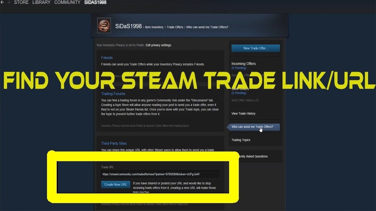 how to get steam trade link