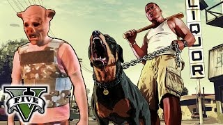 GTA 5 PIGGY HUNT!! - GTA 5 Goofing Around! - Hanging With the Crew Grand Theft Auto 5