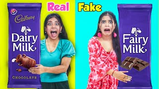 Real V/S Fake Brands Food Challenge!! *Can't Believe This*😱