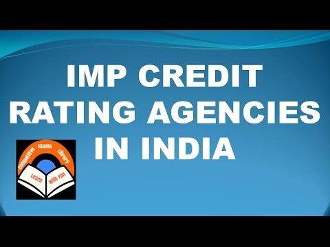 Imp Credit Rating Agencies In India