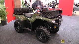 2016 Honda TRX420 Rancher DCT IRS EPS Accessorized - Walkaround - 2015 Toronto Snowmobile & ATV Show