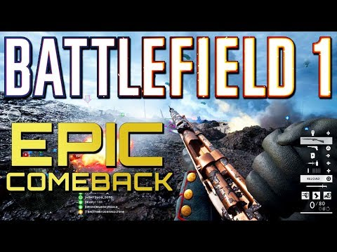 Battlefield 1: 77-4 Epic Comeback! (PS4 PRO Multiplayer Gameplay)