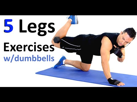 5 Legs Exercises With Dumbbells (Floor Work) with Coach Ali