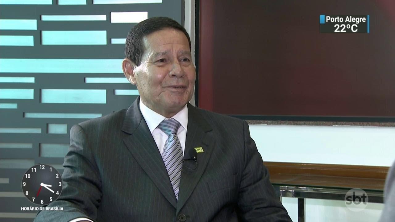 General Mourão fala sobre os primeiros passos da gestão de Jair Bolsonaro | SBT Notícias (30/10/18)