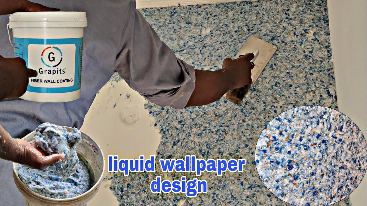 grapits fibre wall texture | liquid wallpaper design