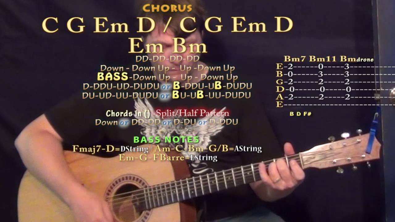 Church Bells Carrie Underwood Guitar Lesson Chord Chart In