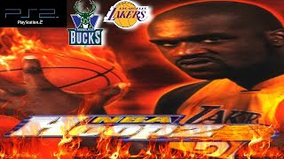 NBA Hoopz PS2 Gameplay - Milwaukee Bucks @ Los Angeles Lakers
