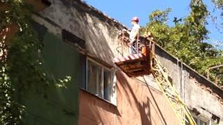 Ремонт фасада, жилого дома(, 2016-09-07T11:26:13.000Z)