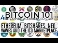 Bitcoin 101 - #6 - Ethereum, BitShares, Neo, and Waves and ICOs