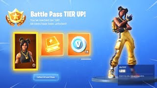Unlocking Golden Luxe Tier 100 Skin On The First Day of Season 8!