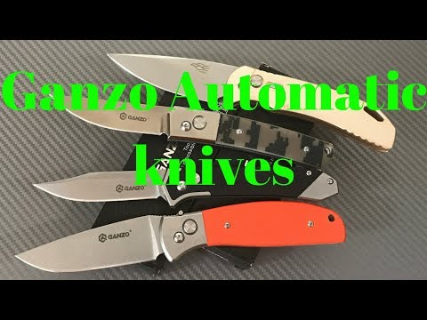 Ganzo Firebird Automatic knives F758 G719 G736 G748 Great value budget autos from China