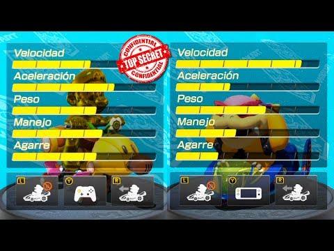 ¡LAS ESTADÍSTICAS SECRETAS DE MARIO KART 8 DELUXE!   Nintendo Switch