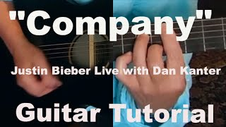 """Company"" Justin Bieber Live - Acoustic Guitar Tutorial"
