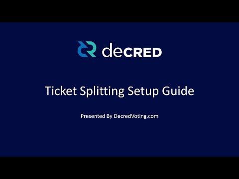 Decred Ticket Splitting - Setup Instructions (GUI)