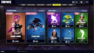 RARE POWER CHORD SKIN AND ROCK OUT EMOTE IS BACK IN FORTNITE ITEM SHOP