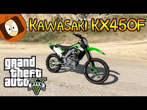GTA 5 | TEST DE LA KAWASAKI KX450F - MONSTER ENERGY ! | MOD PC