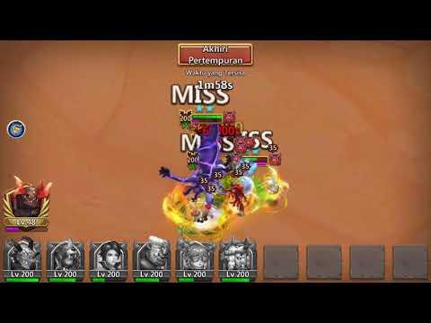 How To Beat Oracle Boss 50 ???   Warden Challenge 40 Konflik Kastil   Castle Clash