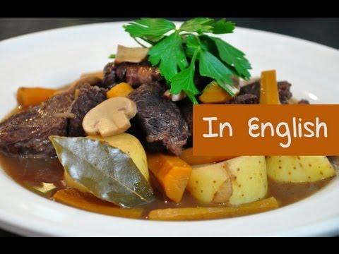 French recipe boeuf bourguignon (Burgundy beef stew) by Hervé Cuisine
