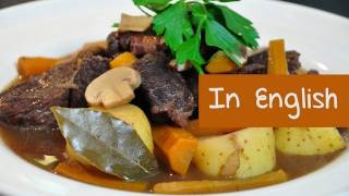 French recipe boeuf bourguignon (Burgundy beef stew) by Hervé Cuisine