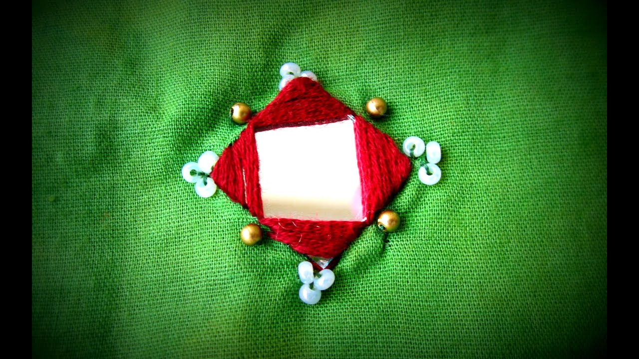 Square mirror simple and easy stitching part i hand