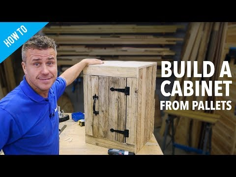 How to make a pallet cabinet with a door