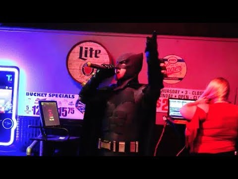 "Drowning Pool ""Bodies"" - Karaoke Batman! Funny Real Life Superhero Karaoke Song"
