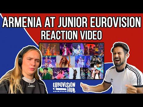 Armenia At Junior Eurovision (Reaction Video)   Eurovision Hub