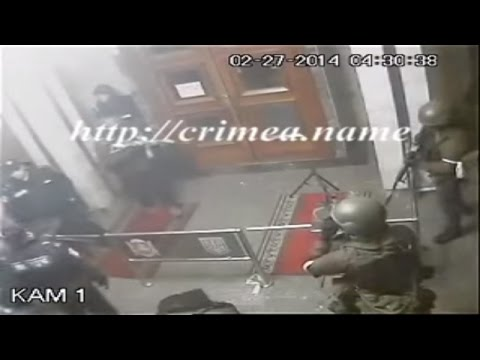 Ukraine War - Russian special troops seize parliament building in Crimea Ukraine